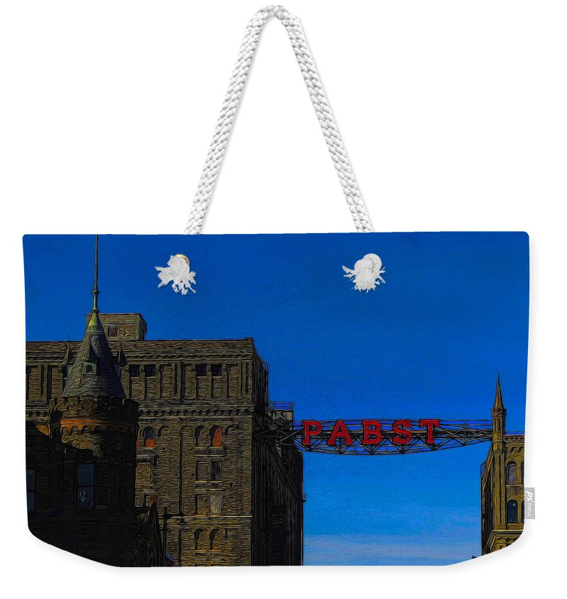 Beer Weekender Tote Bag featuring the photograph Old Pabst Brewery by Tommy Anderson
