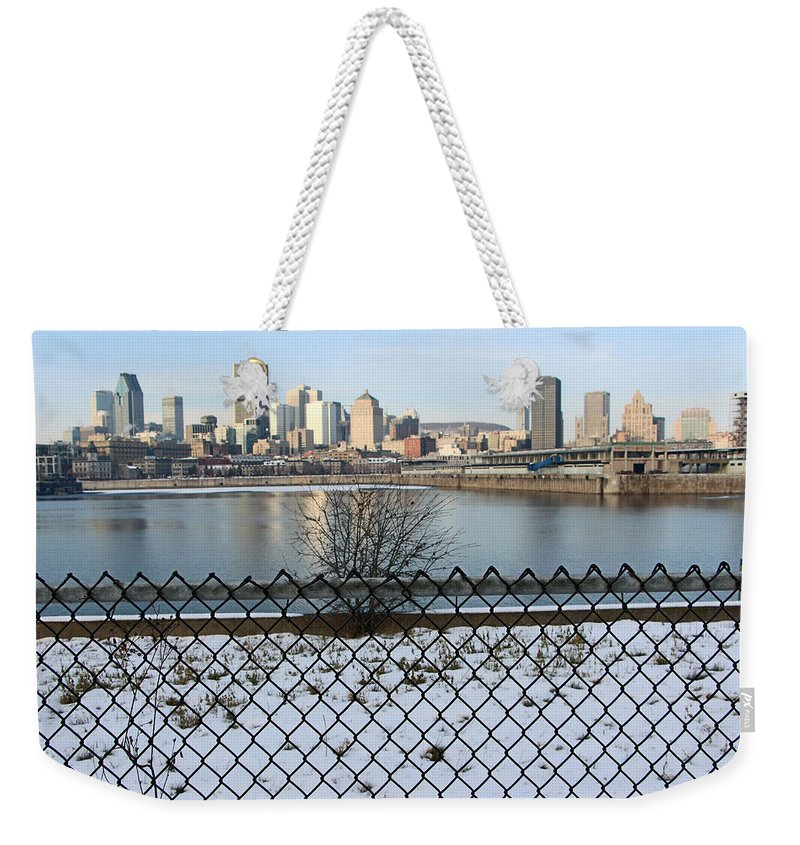 Montreal Weekender Tote Bag featuring the photograph Old Port Of Montreal by Munir Alawi