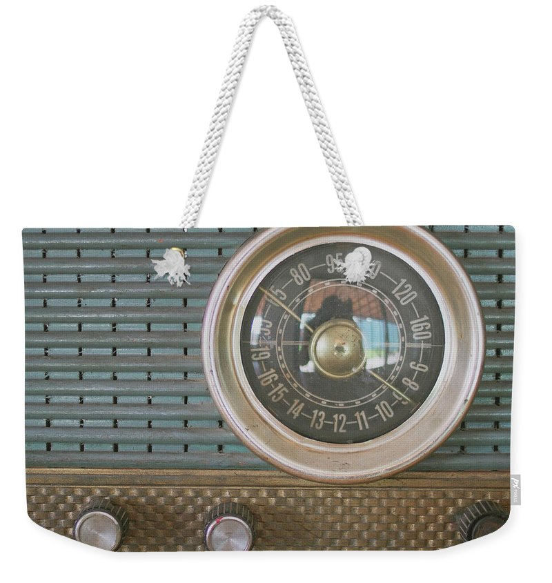 Music Weekender Tote Bag featuring the photograph Old Radio by Carmen Moreno Photography