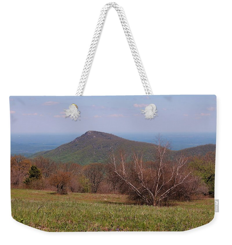 Old Rag Weekender Tote Bag featuring the photograph Old Rag Mountain by Francie Davis