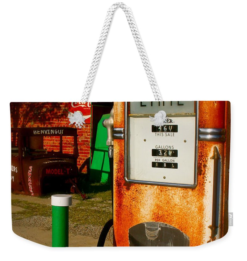 Rt 66 Weekender Tote Bag featuring the photograph Old Route 66 by Iconic Images Art Gallery David Pucciarelli