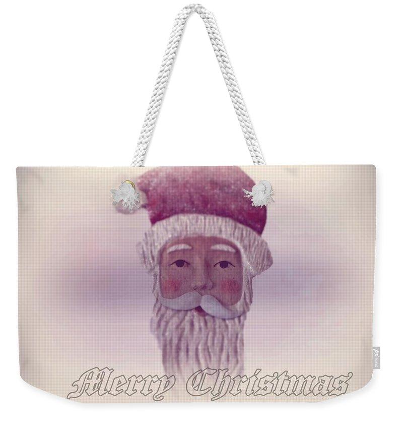 Santa Claus Weekender Tote Bag featuring the photograph Old Saint Nicholas Greeting Card by David Dehner