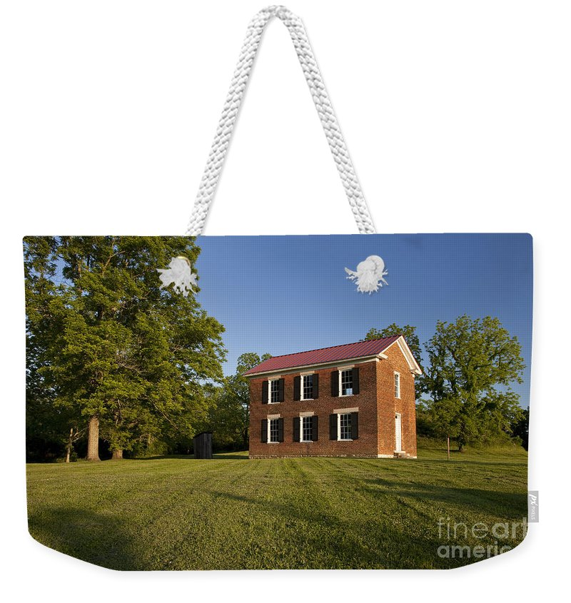 Old Schoolhouse Weekender Tote Bag featuring the photograph Old Schoolhouse by Brian Jannsen