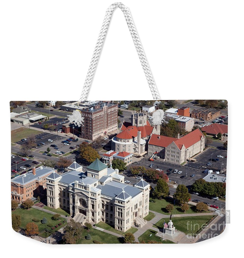 Presbyterian Weekender Tote Bag featuring the photograph Old Sedgwick County Courthouse In Wichita by Bill Cobb
