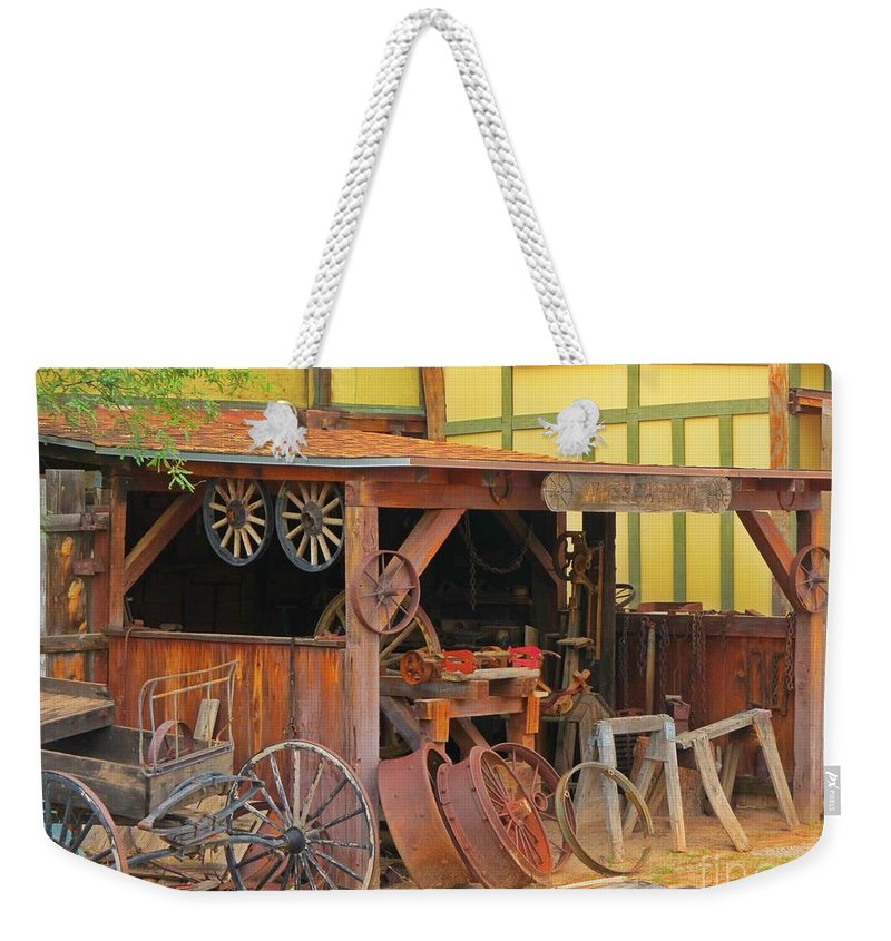 Old Shed With Rusty Antiques Weekender Tote Bag