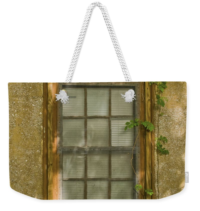 Window Weekender Tote Bag featuring the photograph Old St Augustine Window by Rich Franco