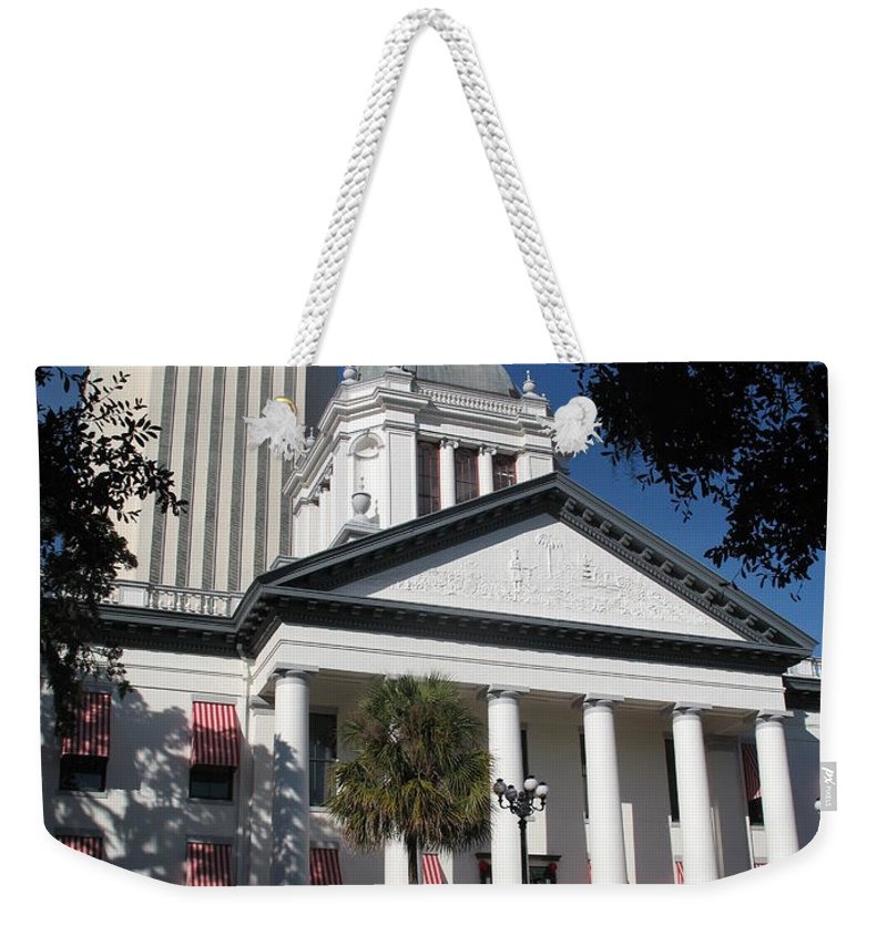 Tallahassee Weekender Tote Bag featuring the photograph Old State Capitol - Florida by Christiane Schulze Art And Photography