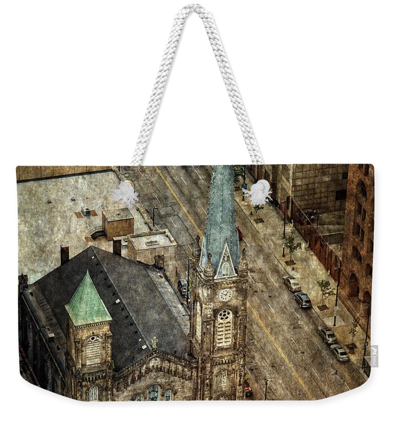 Old Stone Church Weekender Tote Bag featuring the photograph Old Stone Church by Dale Kincaid