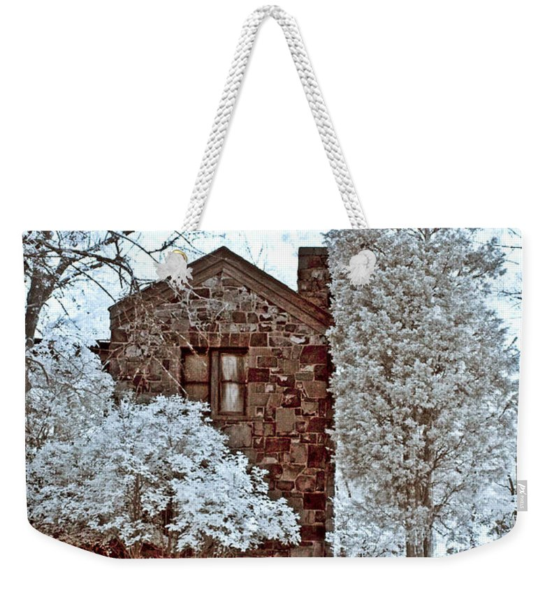 Trees Weekender Tote Bag featuring the photograph Old Stone House by Anthony Sacco