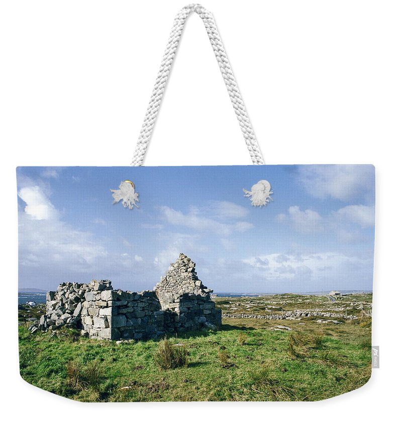 Ireland Weekender Tote Bag featuring the photograph Old Stone House by David Lange