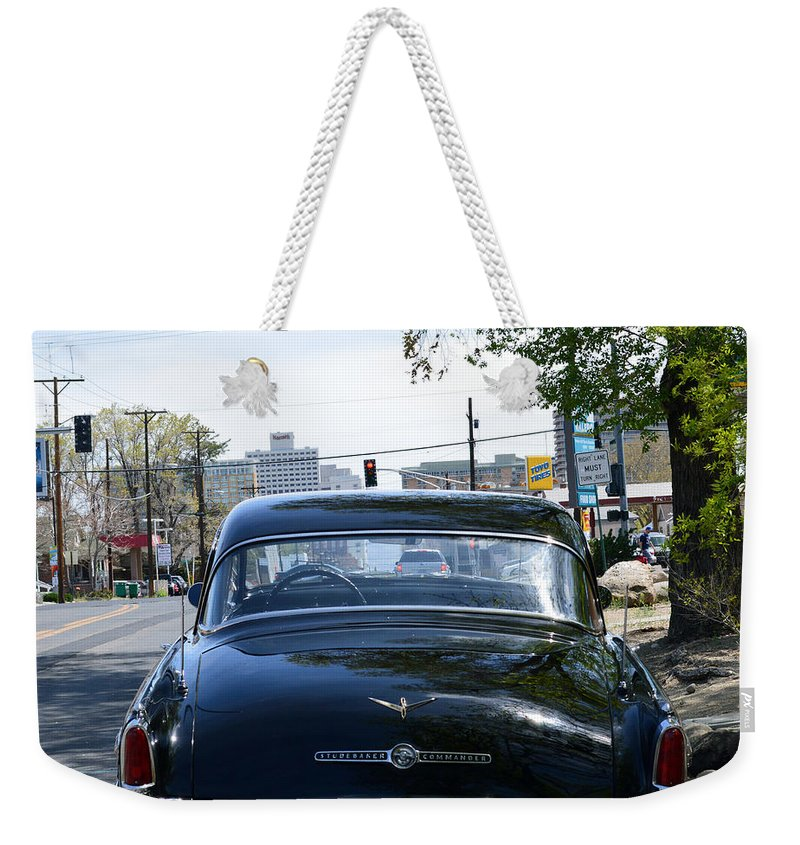 Car Weekender Tote Bag featuring the photograph Old Studebaker by Brent Dolliver