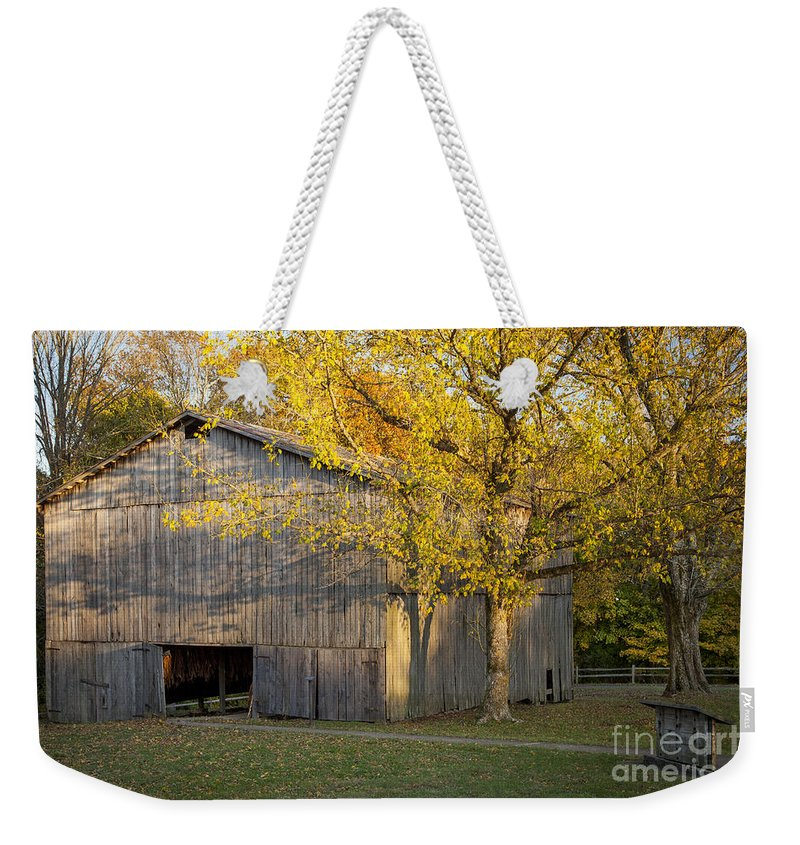 America Weekender Tote Bag featuring the photograph Old Tobacco Barn by Brian Jannsen