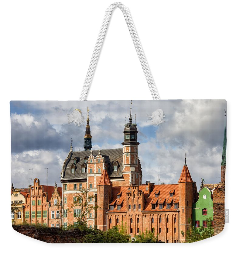 Gdansk Weekender Tote Bag featuring the photograph Old Town Of Gdansk In Poland by Artur Bogacki