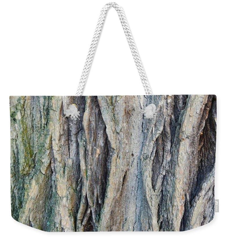 Abstract Weekender Tote Bag featuring the photograph Old Tree Wrinkles by Loreta Mickiene