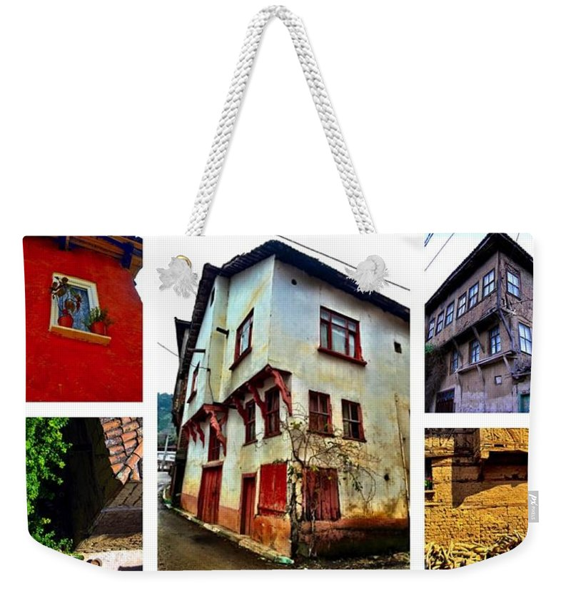 Old House Weekender Tote Bag featuring the photograph Old Turkish Houses by Zafer Gurel