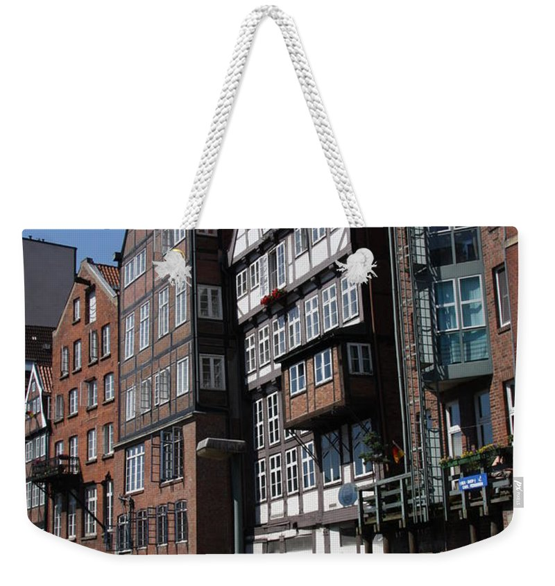 Hamburg Weekender Tote Bag featuring the photograph Old Warehouses Port Of Hamburg by Christiane Schulze Art And Photography