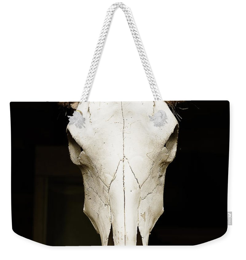 Animal Weekender Tote Bag featuring the photograph Old West by Joe Mamer