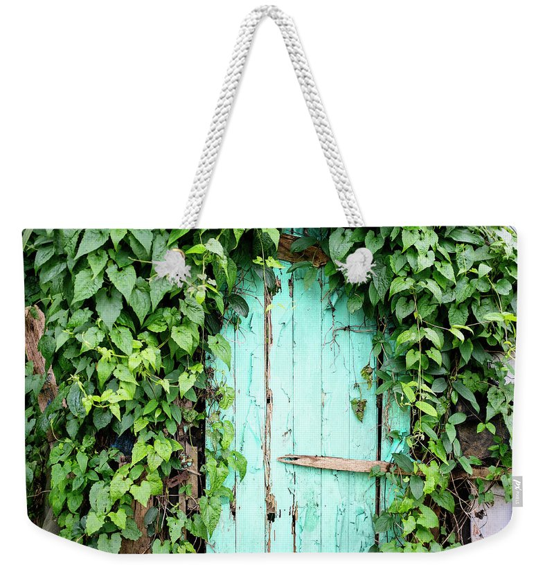 Outdoors Weekender Tote Bag featuring the photograph Old Wooden Door by Real444