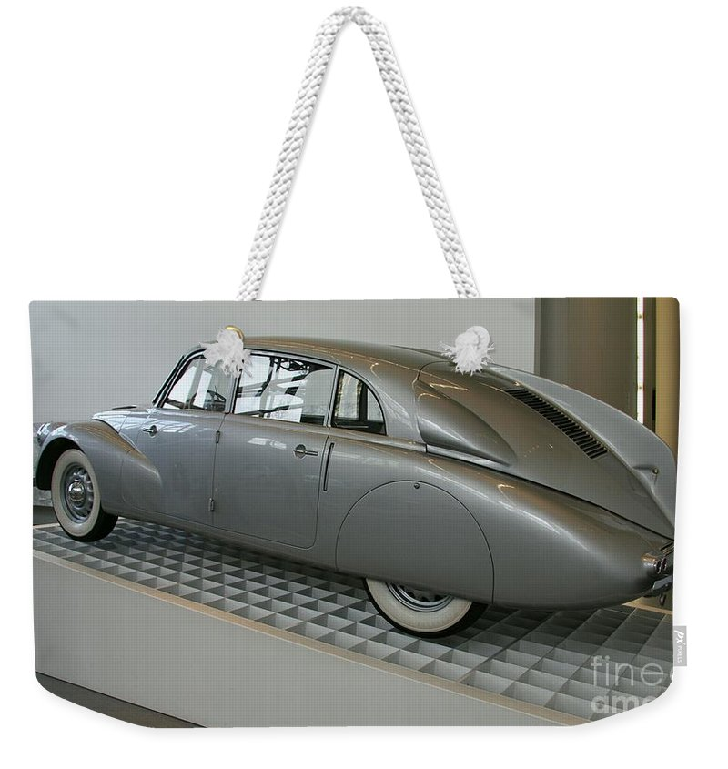 Oldtimer Weekender Tote Bag featuring the photograph Oldtimer Tatra T87 by Christiane Schulze Art And Photography
