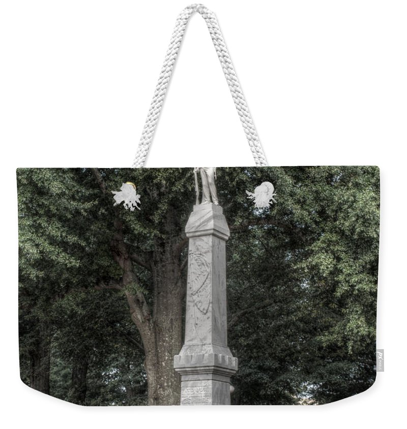 Ole Miss Weekender Tote Bag featuring the photograph Ole Miss Confederate Statue by Joshua House