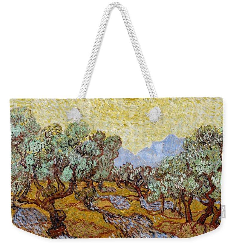 Van Weekender Tote Bag featuring the painting Olive Trees by Vincent Van Gogh