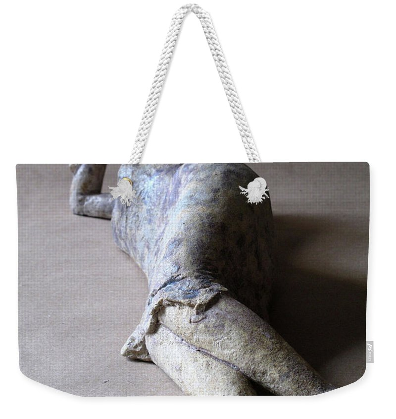 Sculpture Weekender Tote Bag featuring the sculpture Olympia by Raimonda Jatkeviciute-Kasparaviciene