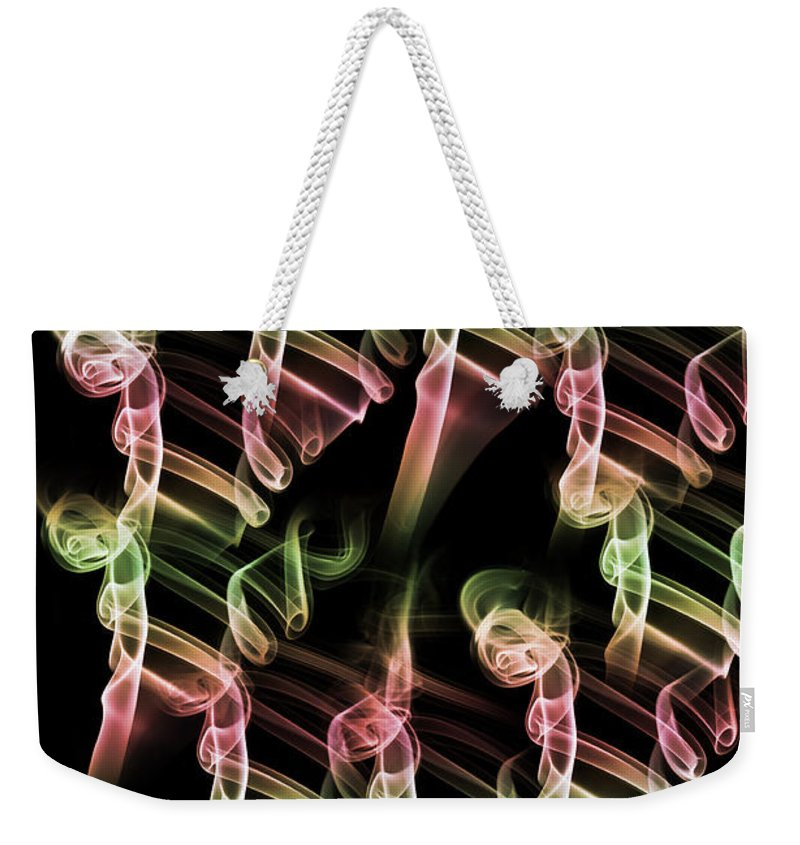 Smoking Trails Weekender Tote Bag featuring the photograph Olympic Ambition by Steve Purnell