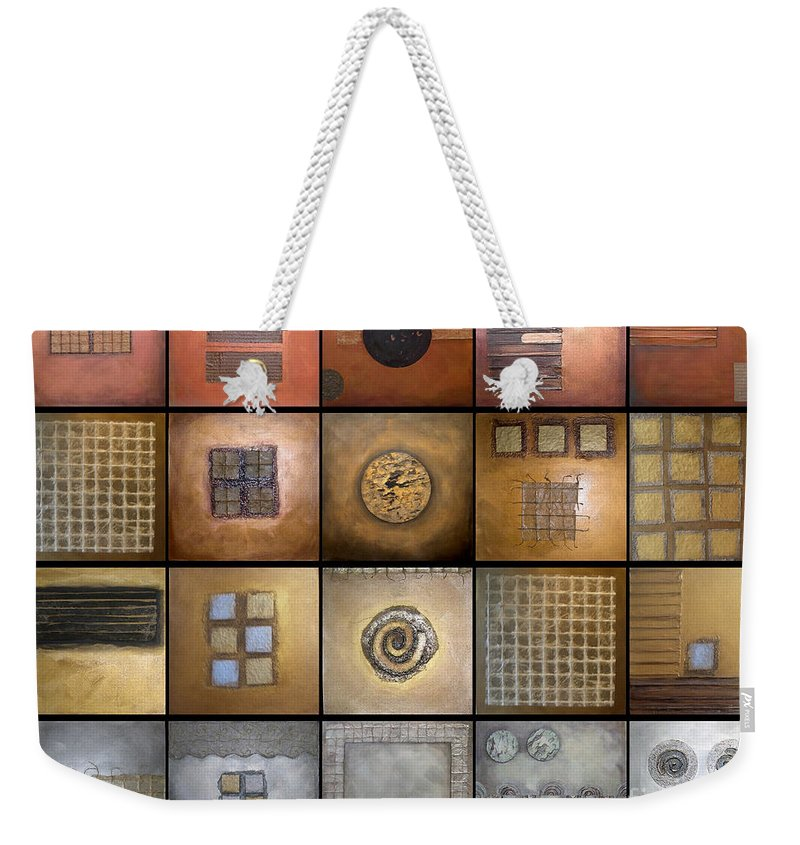 Marlene Burns. Mix Or Match Weekender Tote Bag featuring the painting Olympic Metals by Marlene Burns