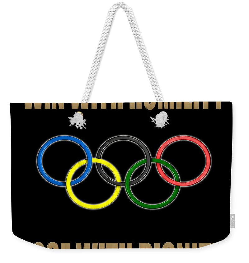 Sport Weekender Tote Bag featuring the photograph Olympic Spirit by Andrew Fare
