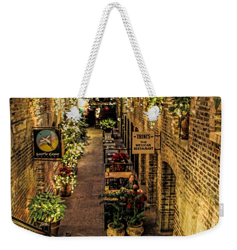 Old Market Historic District Weekender Tote Bag featuring the photograph Omaha's Old Market Passageway by Elizabeth Winter