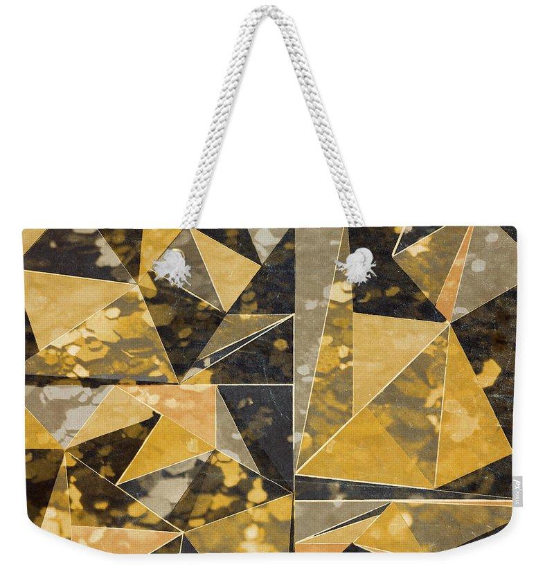 Omg Weekender Tote Bag featuring the digital art Omg Modern Triangles II by south Social Studio