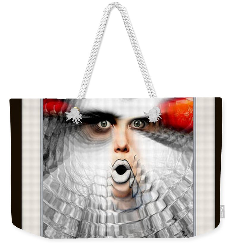 Art Weekender Tote Bag featuring the painting OMG by Rafael Salazar