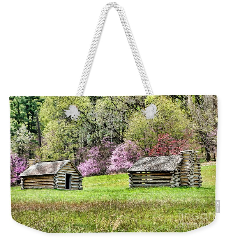 Valley Weekender Tote Bag featuring the photograph On A Hill At Valley Forge by Olivier Le Queinec