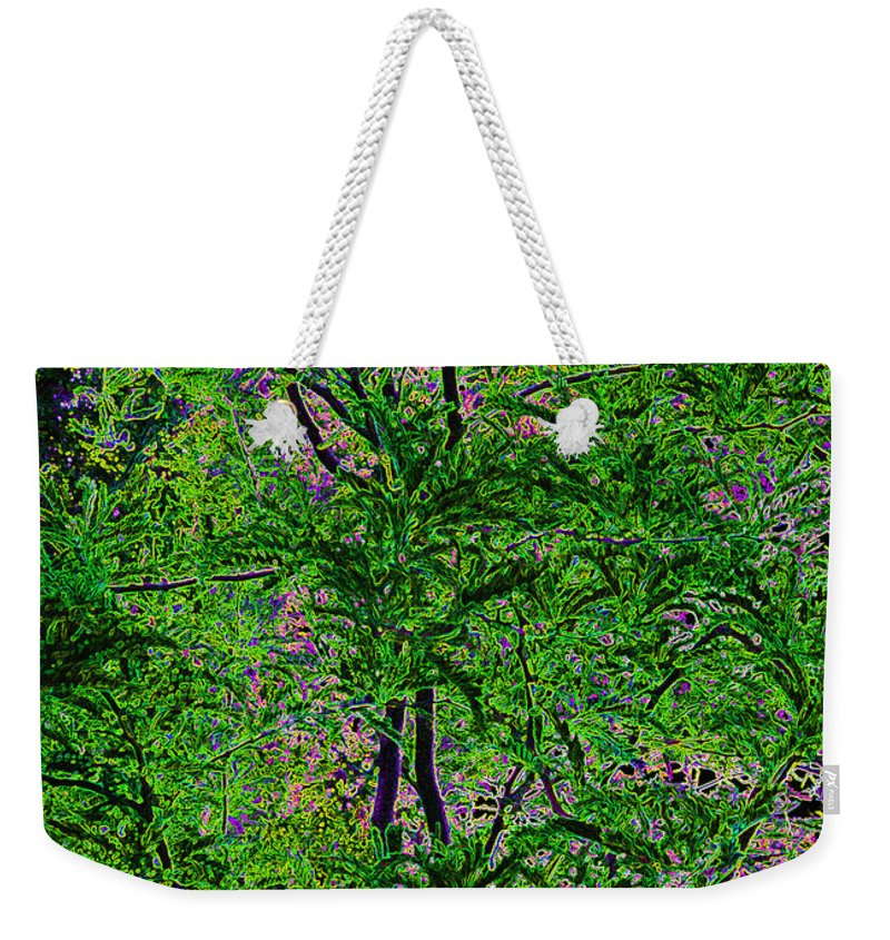 Digital Weekender Tote Bag featuring the digital art On Black Velvet by Alys Caviness-Gober