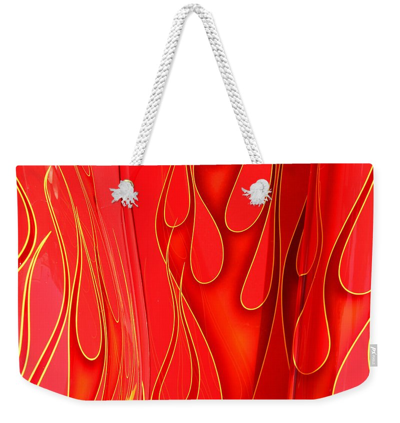Hot Rod Weekender Tote Bag featuring the photograph On Fire by Joe Kozlowski