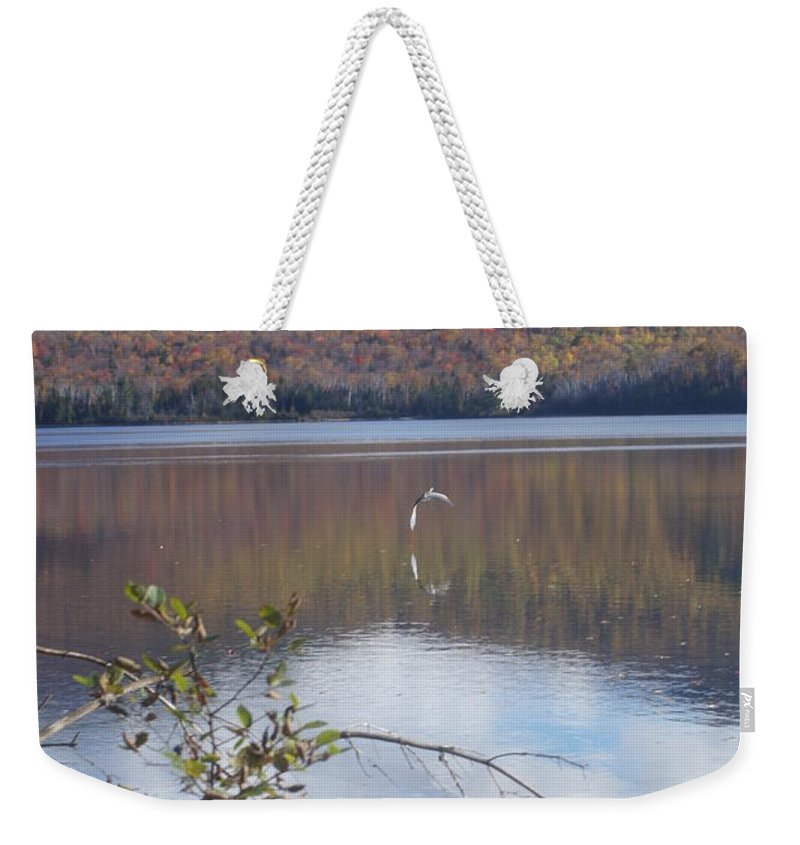 Lakes Weekender Tote Bag featuring the photograph On My Way by Jeffery L Bowers
