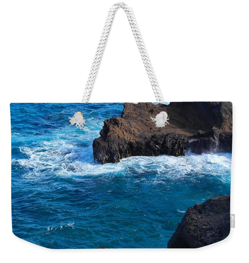 Oahu Weekender Tote Bag featuring the photograph On Second Thought by Michele Myers