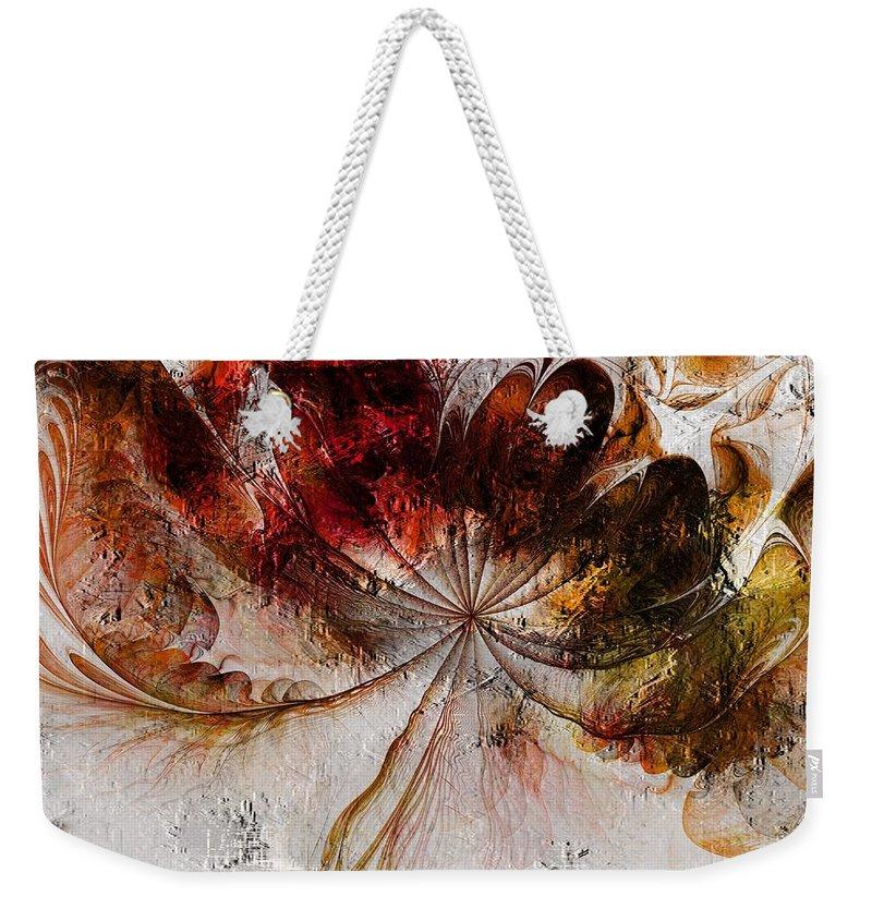 Digital Art Weekender Tote Bag featuring the digital art On The Breeze by Amanda Moore