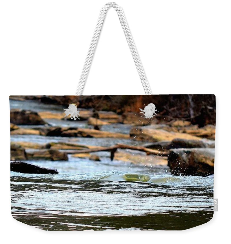 Sweetwater Creek State Park Weekender Tote Bag featuring the photograph On The Creek by Tara Potts