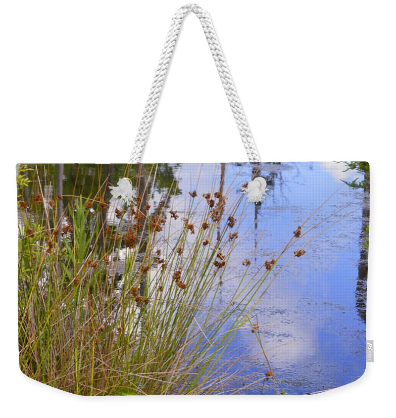 Water Weekender Tote Bag featuring the photograph On The Edge by Leticia Latocki