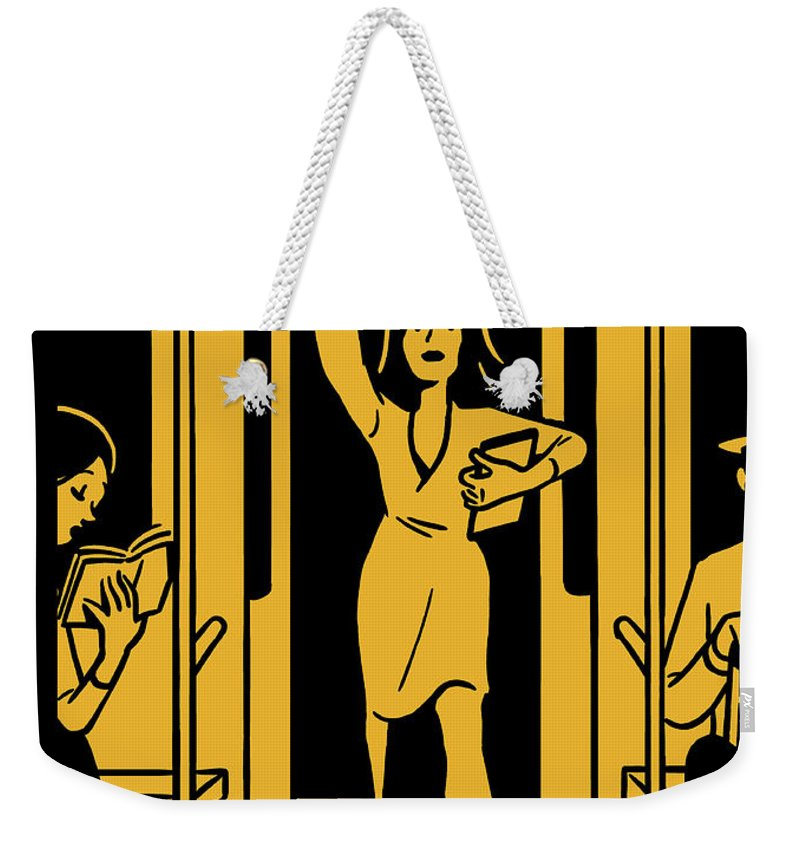 143127 Weekender Tote Bag featuring the painting On The Go by Christoph Niemann