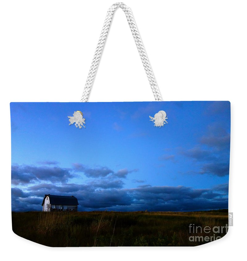 Barn Weekender Tote Bag featuring the photograph On The Hill by Jacqueline Athmann