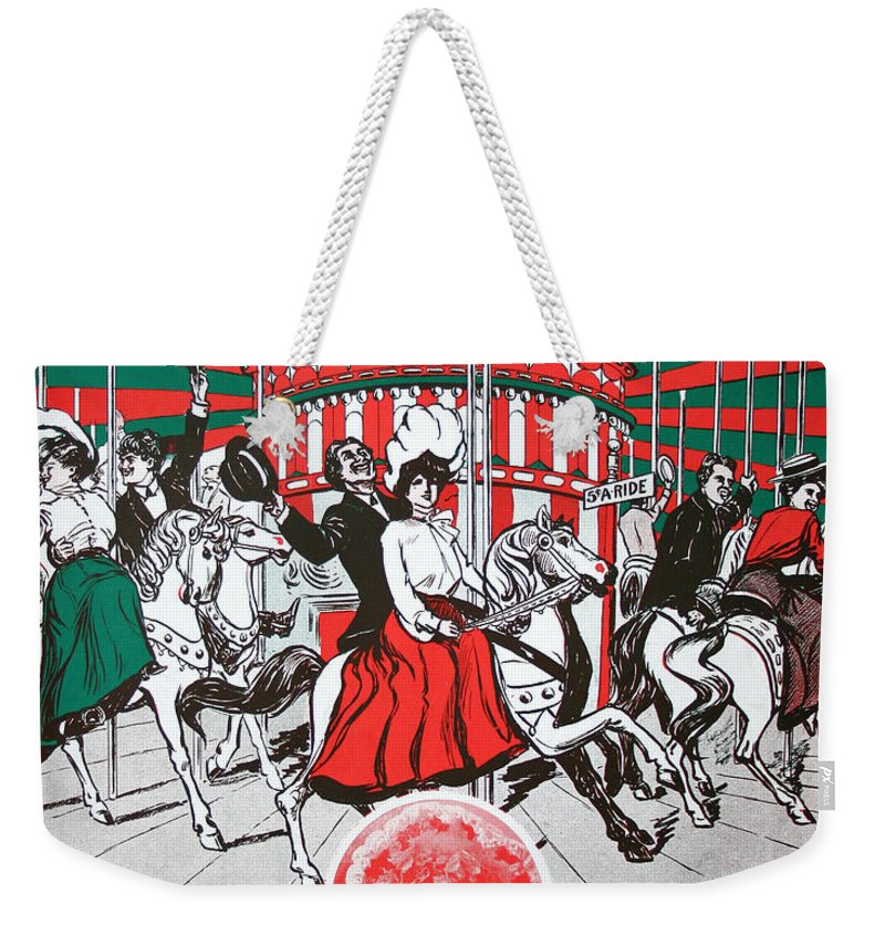 Sheet Music Weekender Tote Bag featuring the drawing On The Joy Line by Ric Bascobert