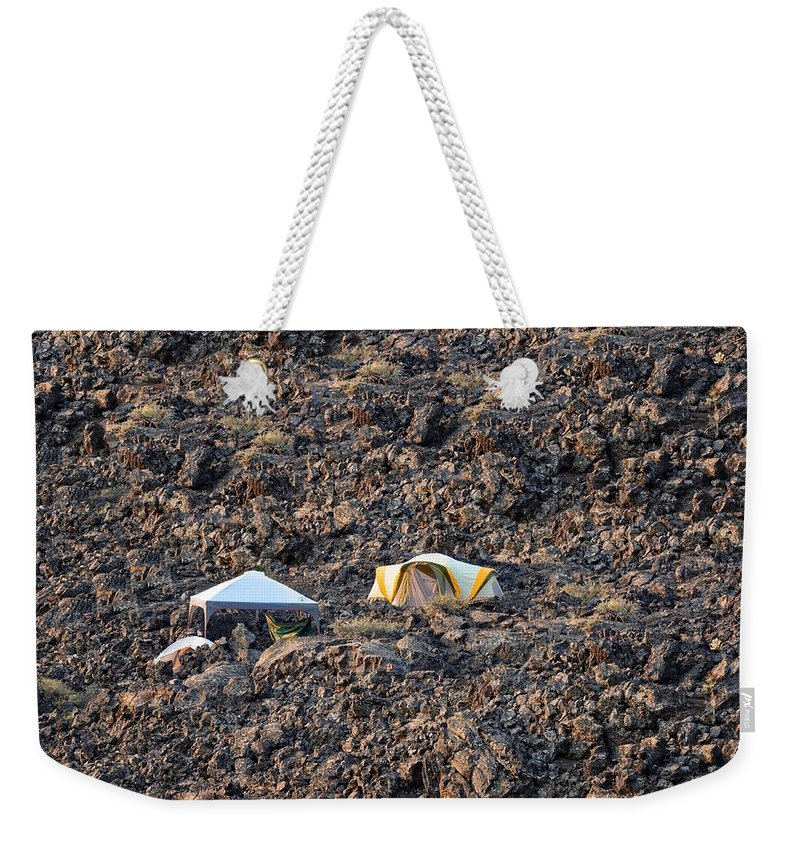 Craters Of The Moon Weekender Tote Bag featuring the photograph On The Moon by Image Takers Photography LLC - Laura Morgan