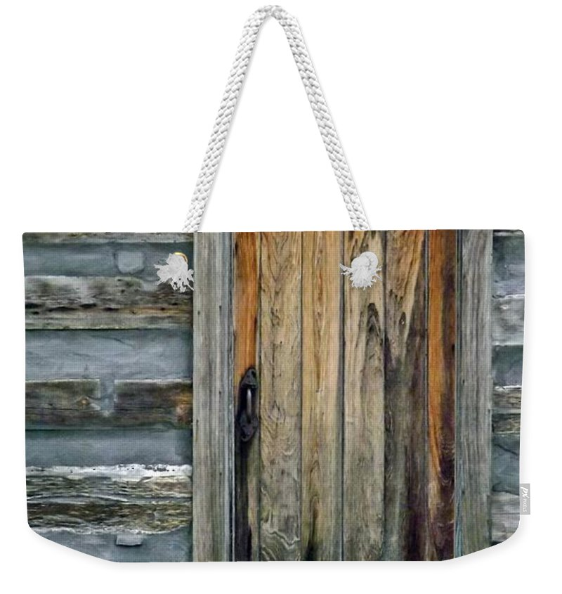 Rustic Weekender Tote Bag featuring the photograph On The Other Side by Sara Raber
