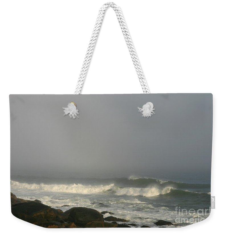 Ocean Weekender Tote Bag featuring the photograph On The Seas Of Narragansett by Neal Eslinger