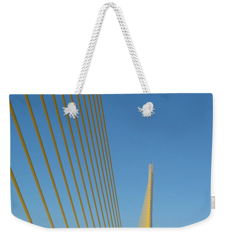 Bridge Weekender Tote Bag featuring the photograph On The Sky Way Brigde by Christiane Schulze Art And Photography
