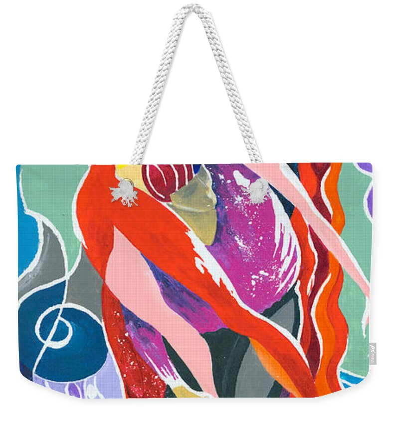 Canvas Prints Weekender Tote Bag featuring the painting On The Stage - Onegin In My Eyes by Elisabeta Hermann