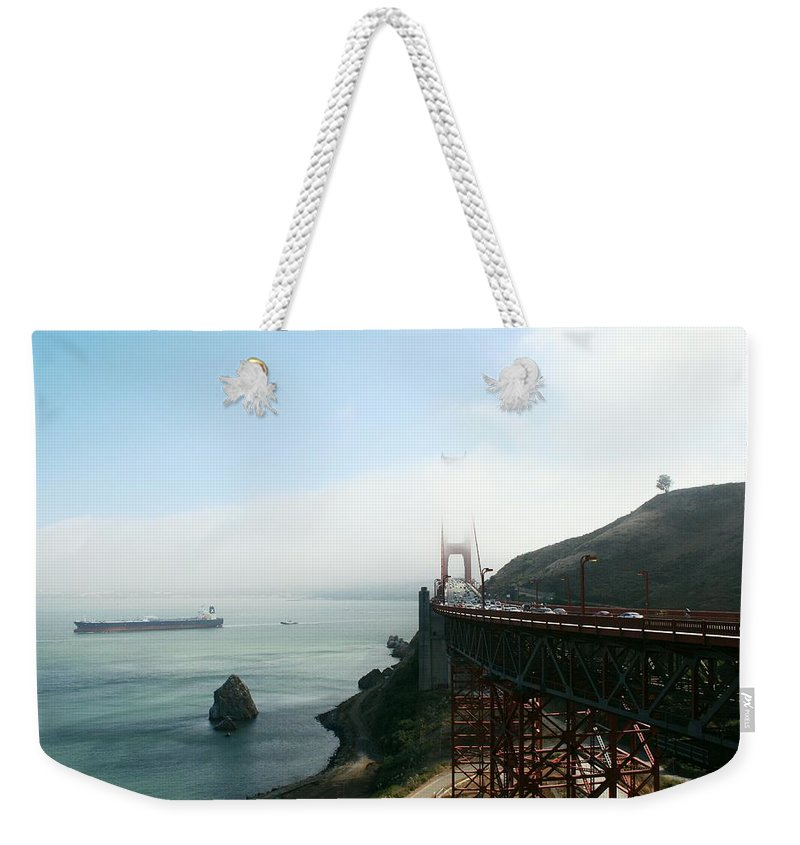 Bridge Weekender Tote Bag featuring the photograph On The Way Back To San Francisco by Christiane Schulze Art And Photography