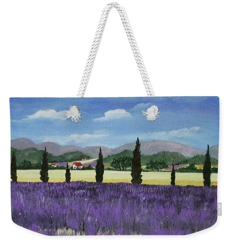 Malakhova Weekender Tote Bag featuring the painting On The Way To Roussillon by Anastasiya Malakhova